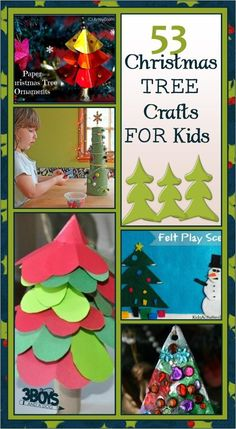 over 50 christmas tree crafts for kids will make a great gift... from ornaments to diy gifts, to any X-mas project or idea you can think up!