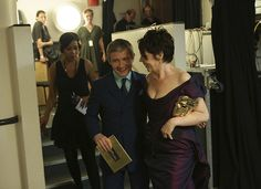 Martin Freeman, smiling his lovely smile, and Olivia Colman