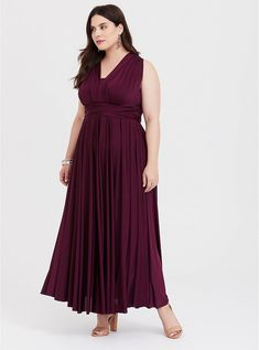 Special Occasion Burgundy Shiny Knit Convertible Maxi Dress Plus Size Special Occasion Burgundy Studio Knit Convertible Maxi Dress, DEEP MERLOT Navy Lace Midi Dress, Black Lace Gown, Plus Size Cocktail Dresses, Plus Size Party Dresses, Maroon Bridesmaid Dresses, Bridesmaids, Mode Chic, Special Occasion Dresses, Plus Size Fashion