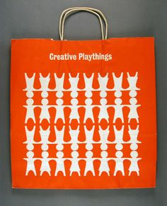 An orange shopping bag, United States, 1970, by Creative Playthings.