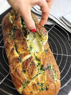 Tasty Vegetarian Recipes, Veggie Recipes, Cooking Recipes, Healthy Recipes, A Food, Good Food, Food And Drink, Mango Mojito, Bread Baking