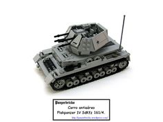 Lego flakpanzerIVW-00 by Panzerbricks, via Flickr Lego Ww2, Lego Army, Easy Lego Creations, Lego Gears, Awesome Lego, Lego Design, Military Diorama, Lego Models, Lego Projects