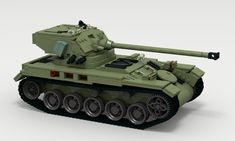 LEGO MOC for LDD Contest 'XX century warfare' - Light Tank AMX-13