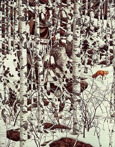 made by: Bev Doolittle , 'Woodland Encounter' Hidden Art, Hidden Images, Hidden Pictures, Optical Illusion Paintings, Optical Illusions, Native American Artwork, American Indian Art, Cowboy Art, Wow Art