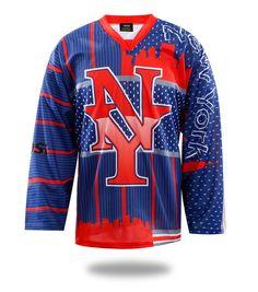1ba9cec5a9d Sublimated New York Ice Hockey Jersey Hockey Pants
