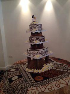 Tongan British wedding cake