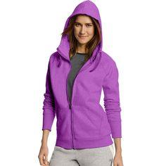 Women's Champion Fleece Full-Zip Hoodie, Size: Medium, Med Grey