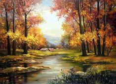 Cottage in autumn forest - Other Wallpaper ID 1600832 - Desktop Nexus Abstract Watercolor Landscape, Landscape Art, Landscape Paintings, Pinturas Bob Ross, Kinkade Paintings, Bob Ross Paintings, Image Nature, Forest Art, Autumn Forest