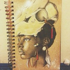 ARTIST : @defcise #DEFCISE #DariusFrank  #BlackArt #BlackArtist  #RandomMishaness #MishaLi777 #DailyArtInspiration  #ArtLife  #Art #Scribble #Sketch #SketchBook #Doodle #Drawing #Illustration #Painting #Girl #She #Her #Tribe #Tribal #Red #African #Africa #Tattoo #TattooArt #Ink #Skull #Bone by randommishaness