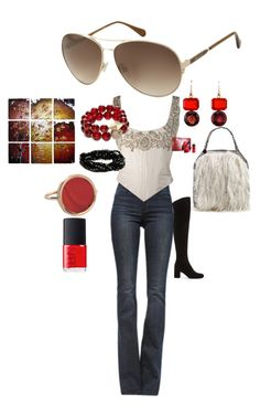 """""""No 32"""" by nzikop on Polyvore featuring Frame Denim, Eavis & Brown, Kenneth Cole, Yves Saint Laurent, STELLA McCARTNEY, NARS Cosmetics, T+C by Theodora & Callum, Irene Neuwirth and Ginette NY"""