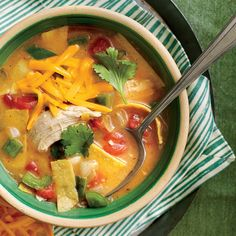 King Ranch Chicken Soup.This restaurant-style Tex-Mex dish is both rich and a cinch to prepare.