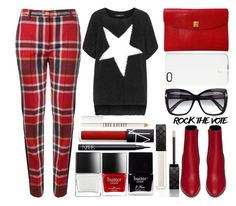 """""""Rock the Vote"""" by juliehalloran ❤ liked on Polyvore featuring Vivienne Westwood Red Label, Mat, Hermès, SnapLight, Tom Ford, Yves Saint Laurent, Butter London, Gucci, NARS Cosmetics and Lord & Berry"""