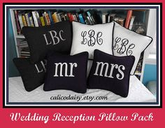 Mr & Mrs pillows -love!