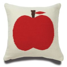 Apple pillow... i could make chair cushions for my dining room table & chairs that I don't have yet...