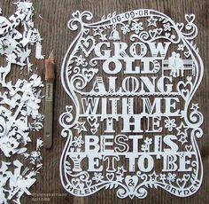 Paper cut wedding invite