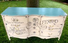 16 Gorgeous Blue Painted Furniture Projects - The Graphics Fairy