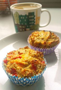 Savory breakfast cups with oats, carrots and bell peppers. Breakfast Cups, Savory Breakfast, I Have Done, Carrots, Muffin, Nutrition, Stuffed Peppers, Cooking, Food