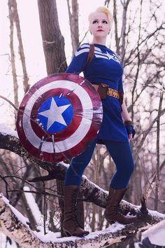 Genderbent Captain America cosplay