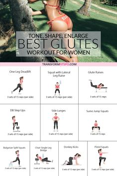 Shape your glutes with this workout for women that will tone shape and enlarge your butt. You'll have heads turning! Shape your glutes with this workout for women that will tone shape and enlarge your butt. You'll have heads turning! Fitness Workouts, Toning Workouts, Workouts To Tone, Fitness Tips, Fitness Journal, Fitness Logo, Yoga Fitness, Health Fitness, At Home Workout Plan