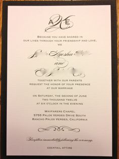 Wedding Invitations Wording Samples | For Invitation Wording, We Wanted To  Send A Personal Message