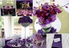 Purple Winter Wedding Decorations