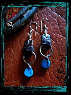 Bohemian Cowgirl Brown Leather and Turquoise by LivingFreeByEP, $28.00