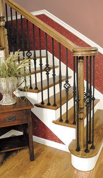 entryway with ballusters   Custom Iron Stair Balusters - traditional - staircase - by Custom ...