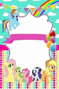 Free Printable My Little Pony Invitations Pinteres
