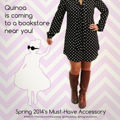 BIG ANNOUNCEMENT! Quinoa, everyone's favorite imaginary well-dressed toddler is coming to bookstores spring 2014! Thank you to all of Quinoa's incredible fans who have made this dream come true! #MIWDTD