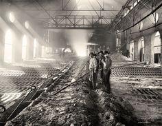 Casting pig iron, Iroquois smelter, Chicago - Pig iron - Wikipedia