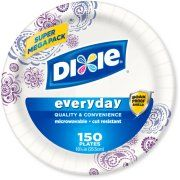"""Dixie Everyday Paper Plates, 10.0625"""", 150 count"""
