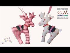 We have a treat for you today! Marina Brumpton of Frocks & Frolics has designed a full set of holiday patterns here at Sew Mama Sew. She filmed her video tutorials, and has a pattern pack for you to download. The patterns include a darling Reindeer, a holiday Gift Bag and a lovely Stocking...