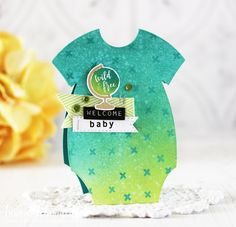 Throwback Thursday: Shape Up Series: Onesie. Welcome Baby Card by Laurie Schmidlin for Papertrey Ink (May 2018)
