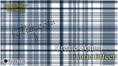 Create Checked Cotton Fabric Effect in Photoshop