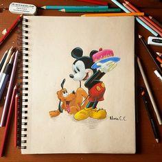 Mickey Mouse #disneymovie #disneyart #pencilcolors #colors #colorpencils #disneyartspotlightfeature #prismacolorpremier #cartoon…