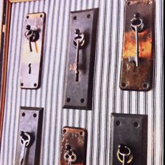 Vintage key rings. Would make awesome office decor