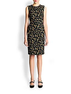 Dolce & Gabbana - Scattered Key-Print Dress
