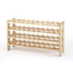 ***FREE SHIPPING*** This 4-Shelf 40-Bottle Wine Rack in Solid Birchwood will confidently organize and store your wine collection large and small. This 4-tier stackable unit (requires multiple units) i