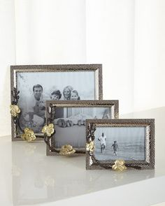 Gold Orchid Frames by Michael Aram at Horchow.