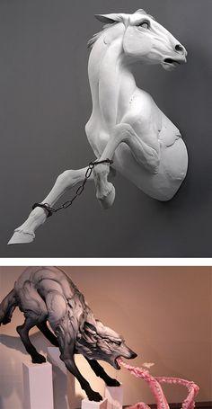 Animal Sculptures by Beth Cavener Stichter | Inspiration Grid | Design Inspiration