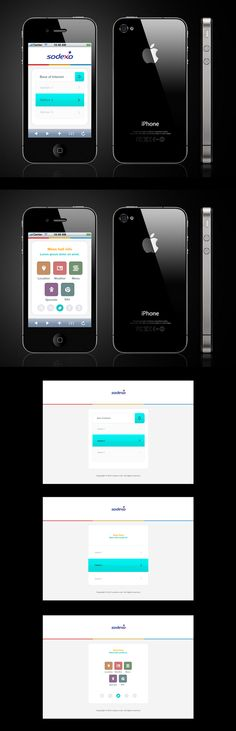 Mobile PC Site by Sheikh Naveed, via Behance