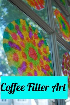 Fun with dot art...tye-dye coffee filters!!