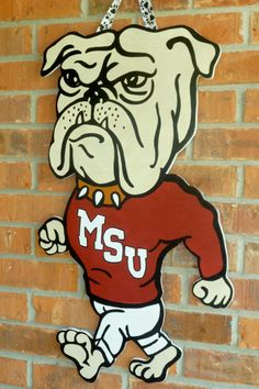 MISSISSIPPI STATE Door hanger This listing by OnTheBrightSideArt
