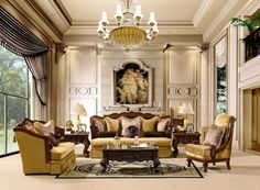 Luxurious Traditional Style Formal Living Room Furniture Set HD-1713