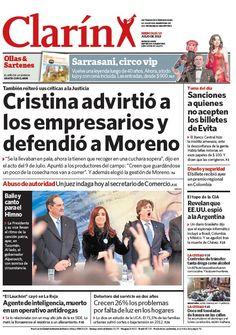 Cristina elogió a Moreno y advirtió a los empresarios. Más información: http://www.clarin.com/politica/Cristina-elogio-Moreno-advirtio-empresarios_0_953304670.html