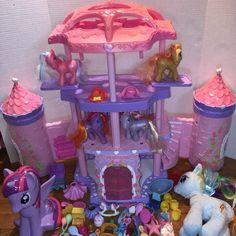 My Little Pony Castle Figure Lot