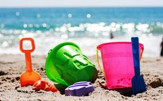 sand pails and beach toys. love the bright colours.
