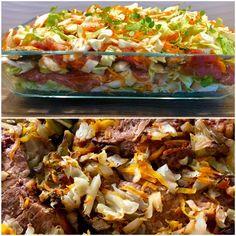 Przekładaniec z młodej kapusty i karkówki w ketchupie - Blog z apetytem Tacos, Food And Drink, Cooking Recipes, Mexican, Ethnic Recipes, Blog, Easy Meals, Essen, Chef Recipes