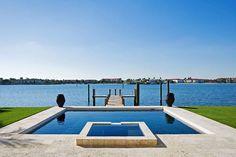 Pool and hot tub overlooking Florida's Intracoastal Waterway