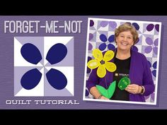 """Make a """"Forget-Me-Not"""" Quilt with Jenny Doan of Missouri Star (Video Tutorial) Missouri Star Quilt Tutorials, Quilting Tutorials, Quilting Projects, Quilting Designs, Msqc Tutorials, Quilting Ideas, Machine Applique, Machine Quilting, Hans Moser"""